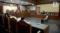Suasana sidang lanjutan terdakwa kasus dugaan suap penghapusan red notice Joko Tjandra, Irjen Pol Napoleon Bonaparte di Pengadilan Tipikor, Jakarta, Senin (9/11/2020). (Liputan6.com/Faizal Fanani)