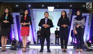 Lima finalis saat audisi news presenter competition EGTC 2018 di Universitas Negeri Semarang (UNNES), Semarang, Kamis (19/). Audisi news presenter competition EGTC 2018 memenangkan 5 finalis. (Liputan6.com/Herman Zakharia)