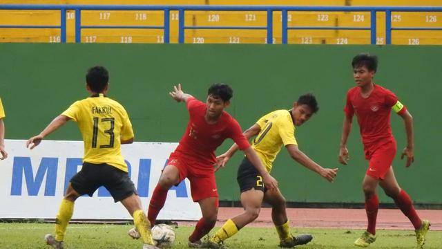 Timnas Indonesia U-18 Vs Malaysia pada babak semifinal Piala AFF U-18 2018 di Go Dau Stadium, Sabtu (17/8/2019).