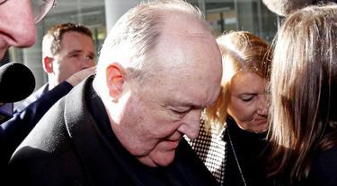 Uskup Agung Australia Philip WIlson, resmi dihukum karena terbukti menutupi pelecehan seksual (AP)