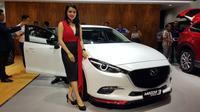 Mazda3 hadir di IIMS 2018. (Herdi Muhardi)