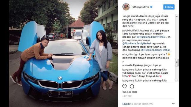 Pamer Bmw I8 Raffi Ahmad Menuai Sindiran Soal Pajak Otomotif