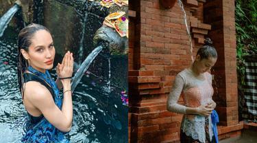 Potret 7 Seleb Wanita Jalani Tradisi Melukat, Pancarkan Energi Positif