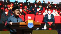 Gus AMI, sapaan akrab Muhaimin Iskandar saat menghadiri Kongres XX PMII di Balikpapan, Kalimantan Timur, Rabu, 17 Maret 2021.