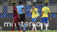 Pemain Brasil kecewa gagal kalahkan Venezuela di lanjutan Copa America 2019 (AP)