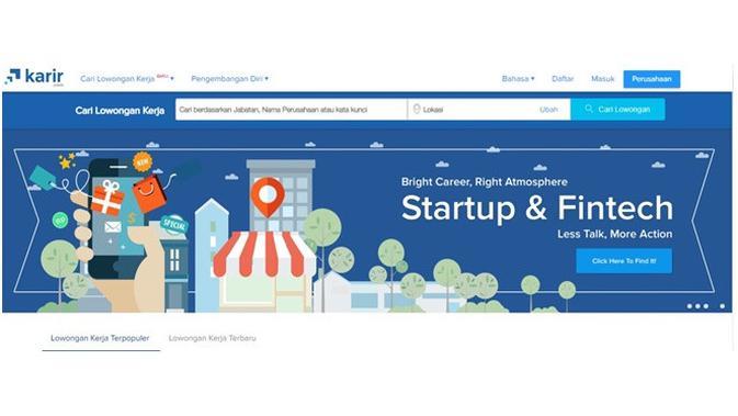 Situs pencari kerja (Sumber: karir.com)
