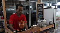 Kedai kopi KopiLot, di kawasan Gapura Surya Nusantara Tanjung Perak Surabaya, Jawa Timur (Foto: Liputan6.com/Dian Kurniawan)