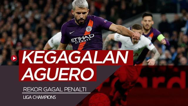 Berita video striker Manchester City, Sergio Aguero, ternyata punya rekor kegagalan dalam eksekusi penalti mencapai 6 kali di Liga Champions.
