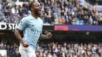 Gelandang Manchester City asal Inggris, Raheem Sterling. (AFP/Oli Scarff)