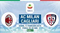 Jadwal Serie A 2018-2019 pekan ke-23, AC Milan vs Cagliari. (Bola.com/Dody Iryawan)