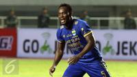 Marquee Player Persib Bandung, Michael Essien. (Liputan6.com/Helmi Fithriansyah)