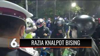 VIDEO: Puluhan Kendaraan Berknalpot Bising Terjaring Razia di Senayan