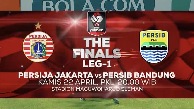 Berita video promo final leg 1 Piala Menpora 2021 antara Persija Jakarta melawan Persib Bandung yang akan disiarkan di Indosiar dan Vidio, Kamis (22/4/2021) pukul 20.00 WIB.