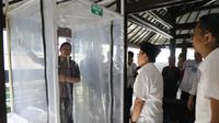 Kerangka bilik disinfektan karya mahasiswa Universitas Brawijaya untuk mencegah penyebaran coronavirus Covid-19 (Humas Pemkot)