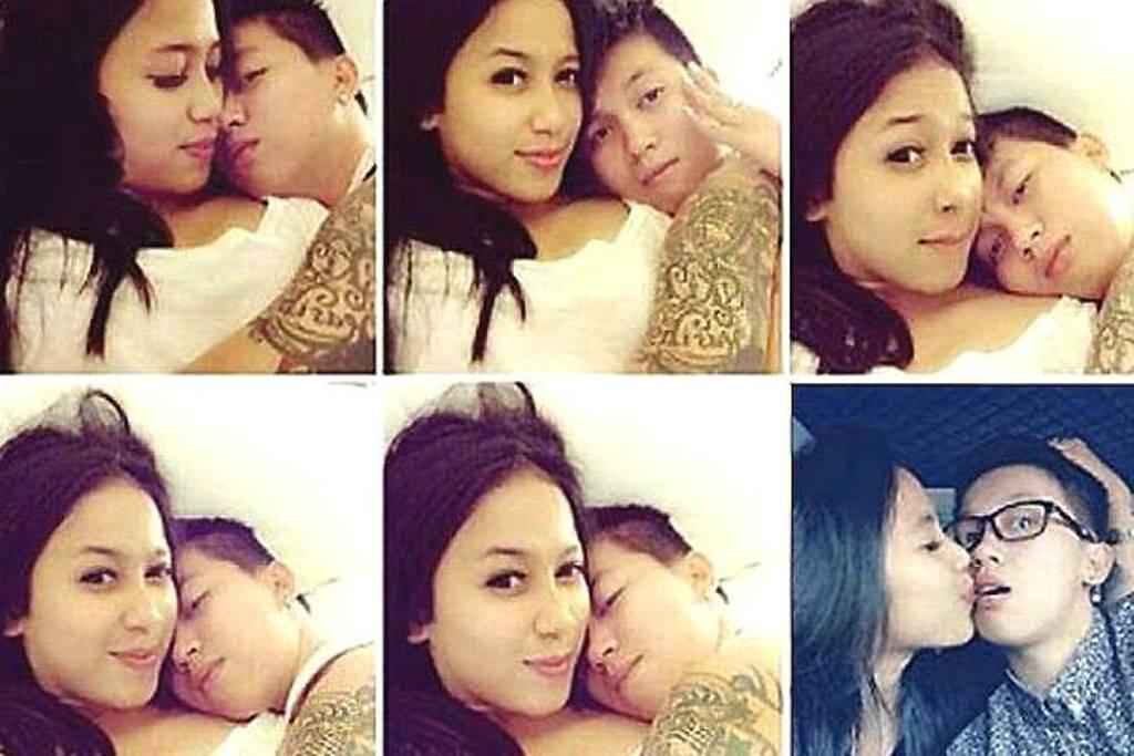 Setelah ditetapkan jadi tersangka penipuan First Travel, beredar foto mesra Kiki Hasibuan dengan pasangan sejenisnya. (Foto: istimewa)