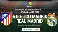 La Liga Atletico Madrid vs Real Madrid (Bola.com/Adreanus Titus)