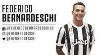 Federico Bernardeschi akan menggunakan nomor punggung warisan Alessandro Del Piero. (doc. Juventus)