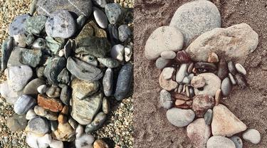Seniman Ini Susun Batu Pantai Menyerupai Wajah, 6 Hasilnya Bikin Takjub