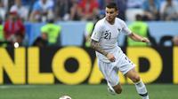 Bek timnas Prancis, Lucas Hernandez. (AFP/Kirill Kudryavtsev)