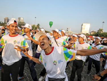 Kemeriahan Puncak kirab Obor Asian Games