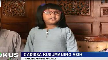 Carissa yang duduk di kelas dua SD luar biasa mengaku senang bisa bertemu tokoh-tokoh di daerahnya. Carissa juga memendam keinginannya untuk bertemu Presiden Jokowi.
