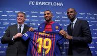 Barcelona resmi mengumumkan Kevin-Prince Boateng sebagai rekrutan anyara pada bursa transfer Januari 2019. (AFP/Lluis Gene)