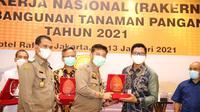 Mentan Syahrul Yasin Limpo membuka Rapat Kerja Nasional Bidang Tanaman Pangan, Senin, 12 Januari 2021. Dok Kementan