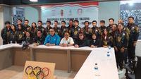 Timnas ice skating Indonesia menjelang keberangkatan ke SEA Games 2019.