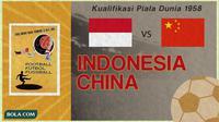 Duel Klasik Indonesia Vs China di Kualifikasi Piala Dunia 1958 (Bola.com/Adreanus Titus)