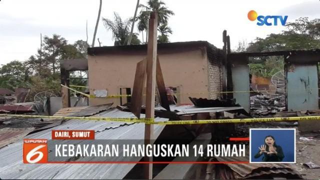 Korban Kebakaran di Dairi Sumut, berharap pemerintah segera memberikan bantuan pembangunan rumah, agar warga dapat kembali hidup normal