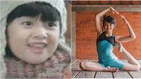 Afiqah saat berlatih gymnastic (Sumber: Instagram/amaninaafiqah)