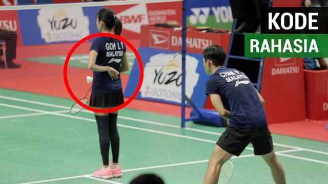 Berita video soal kode rahasia yang dilakukan pemain ganda campuran Malaysia sebelum melakukan servis di Indonesia Masters 2019.