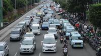 Rekayasa lalu lintas sidang Ahok (Liputan6.com/ Helmi Afandi)