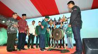 Menpora Imam Nahrawi membuka Santripreneur Lintas Agama 2019 di Amphitheater Discovery Mall, Kuta, Bali, Rabu (21/8).