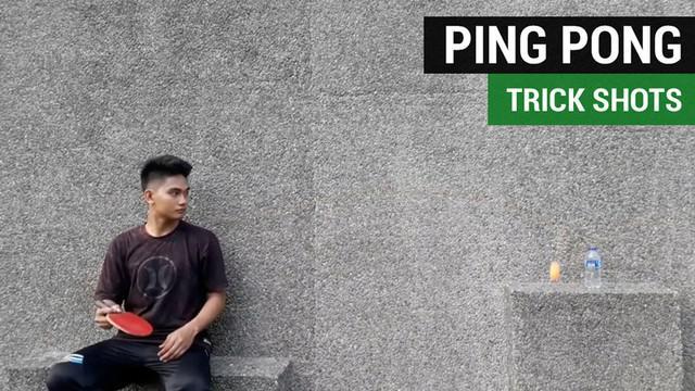 Berita video mengenal Ardiansyah Goli, yang bisa disebut master ping pong trick shots di Indonesia.