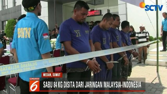 Sindikat narkoba Malaysia-Indonesia terbongkar berawal dari penemuan 64 kilogram sabu-sabu dalam kapal cepat di Pantai Sruway, Aceh Tamiang, Aceh, bulan September tahun lalu.