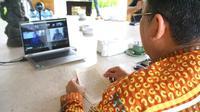 Proses peresmian Desa Wisata Pancasila dilakukan secara virtual pada Rabu (28/10).