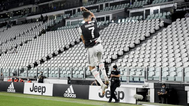 FOTO: Ronaldo Bawa Juventus Kalahkan Lazio di Allianz Stadium