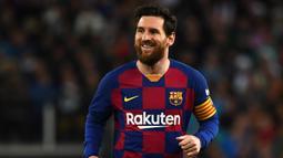 2. Lionel Messi (104 juta dolar) - Messi memperoleh penghasilan 104 juta dolar yang terbagi menjadi 72 juta dolar dari gaji dan 32 juta dolar dari pendapatan iklan. (AFP/Gabriel Bouys)