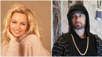 Siapa sangka jika ada selebriti ini pernah menikah dua kali dengan orang yang sama. (Sumber: Instagram/@pinadicola/@eminem)