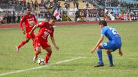 Duel PSPS vs Semen Padang di Stadion Kaharudin Nasution, Pekanbaru, Senin (8/10/2018). (Bola.com/Arya Sikumbang)
