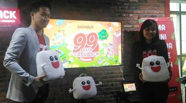 Yonathan Indra, Country Manager dan Co-founder ShopBack bersama Inge Kosasih, Marketing Manager ShopBack Indonesia (Liputan6.com/Agustinus Mario Damar)