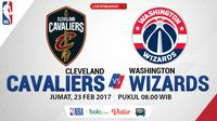 Jadwal NBA, Cleveland Cavaliers Vs Washington Wizards. (Bola.com/Dody Iryawan)