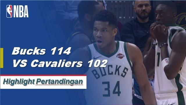 Giannis Antetokounmpo memimpin semua penilaian dengan 44 poin untuk pergi bersama dengan 14 rebound ketika Bucks mendapatkan kemenangan atas Cavaliers, 114-102.