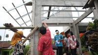 Pembangunan rumah tahan gempa Rumah Unggul Sistem Panel Instan (Ruspin) dari Dinas Perumahan Rakyat dan Kawasan Permukiman (Disperakim) Jawa Tengah.