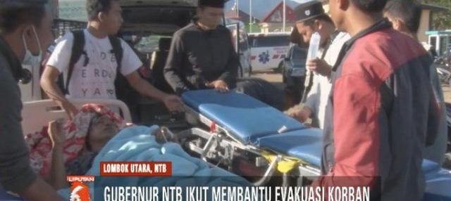 Gubernur Nusa Tenggara Barat, Muhammad Zainul Majdi alias TGB ikut terjun langsung ke lokasi untuk membantu dan memantau evakuasi korban gempa di Lombok Utara.