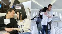 Syahrini dan Reino di Jet Pribad (Sumber: Instagram/princessyahrini)