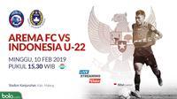 Arema FC Vs Timnas Indonesia U-22 (Bola.com/Adreanus Titus)