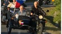 Hadir dalam acara klub sepeda motor, Presiden Rusia Vladimir Putin menarik perhatian dunia (@sputnik_news)