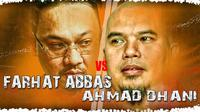 Farhat Abbas vs Ahmad Dhani (grafis: Abdillah/Liputan6.com)
